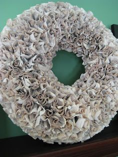 DIY book page wreath! So cute and inexpensive to make.