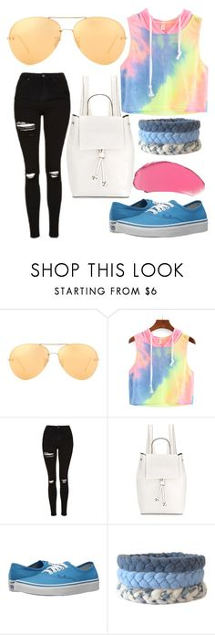 """Untitled #49"" by sabaqadoume ❤ liked on Polyvore featuring Linda Farrow, Topshop, French Connection and Vans"