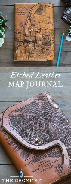 This heirloom-quality journal pays homage to craftsmanship and American manufacturing. Laser engraved with early 20th century maps and Made in the USA.