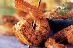 Prawn Satay With Peanut Dipping Sauce - Weber Prawn Recipes, Sauce Recipes, Seafood Recipes, Weber Q Recipes, Bbq Prawns, Peanut Dipping Sauces, Peanut Recipes, Grilled Seafood, Food Crush