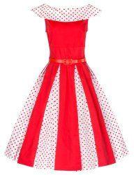 Lindy Bop 'Brenda' Classic Vintage 1950's Polka Dot Pleat Dress http://www.modandretro.com/lindy-bop-brenda-classic-vintage-1950s-polka-dot-pleat-dress/