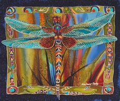 Dragonfly quilt Hockaday Museum of Art - Experience Montana's Cultural Legacy Dragonfly Art, Dragonfly Jewelry, Textiles, Animal Quilts, Art Textile, Landscape Quilts, Exhibition, Mini Quilts, Silk Painting