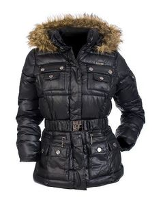 Rocawear Nylon Belted Puffer Jacket $55.00 (54% OFF)