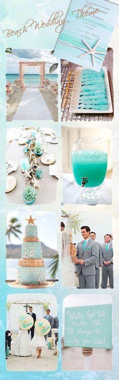 romantic blue beach