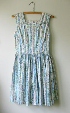 Blue flowers dress.