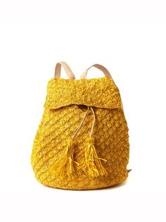 View Larger Image             Mar Y Sol     Zadie Crocheted Backpack $119