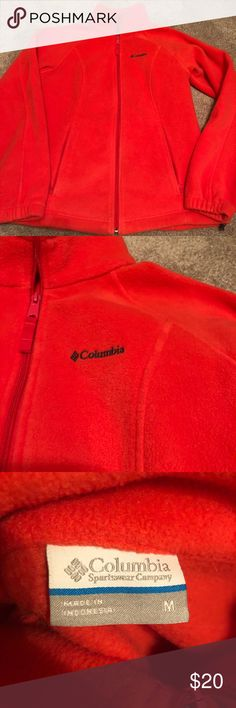 Bright pink/orange women's Columbia fleece medium Only worn once or twice women's Columbia fleece good condition size medium Columbia Jackets & Coats