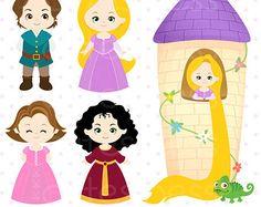 Pretty Princess 2 Set de Clip Art y Papeles por pixelpaperprints