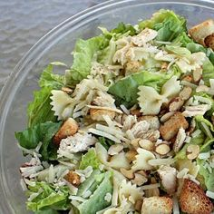 *Riches to Rags* by Dori: Bowtie Chicken Ceasar Salad
