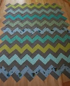 crazy mom quilts: how to make a zig zag quilt (without piecing triangles!) Tutorial and yardage.