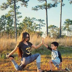 Beautiful shot shared by @breathezenyoga  of her and her little one rocking our OM mommy tee and 3/4 Peace toddler tee. |Check out our mommy and me styles at our shop http://ift.tt/1TrFF3M sizes now available! #ConsciousKids