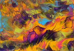 Original Miniature Painting  Abstract ACEO by 5thDimensionStudios, $4.00