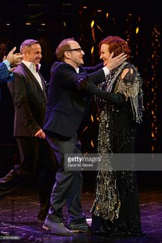 Choreographer Stephen Mear, director Lonny Price and Glenn Close attend the press night performance of 'Sunset Boulevard' at The London Coliseum on April 4, 2016 in London, England.
