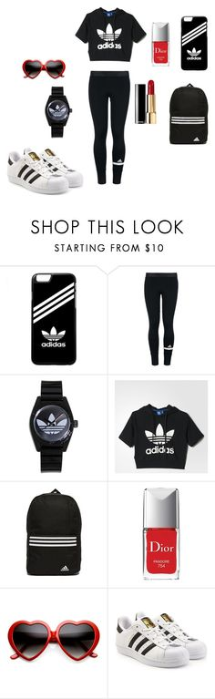 """Gym Clothes"" by chanalieberman on Polyvore featuring adidas, Chanel, Christian Dior, ZeroUV and adidas Originals"