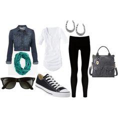 rocker chic casual, created by gossipgirlbb