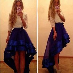high low dresses formal with sleeves - Google Search
