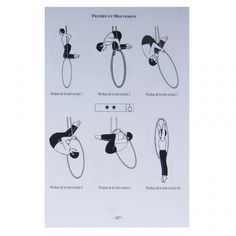 The Aerial Ring Methodology Book is an illustrated guide to the aerial hoop (lyra). Written in French but with clear diagrams this book very useful for anyone, beginner, intermediate or advanced, interested in the aerial ring. Aerial Dance, Aerial Hoop, Aerial Arts, Aerial Silks, Aerial Classes, Singing In The Rain, Black And White Pictures, Pole Dancing, Yoga