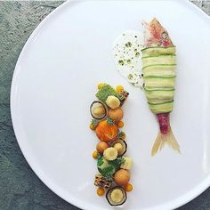 Smoked cashews filling wrapped in zucchini red trout via @chefsplateform