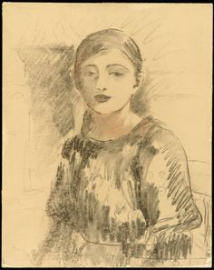 1890 Portrait of Julie Manet by Berthe Morisot. Medium: Transfer drawing in charcoal and red chalk, on light tan tracing paper, laid down on white wove paper, wrapped around millboard. Julie Manet, Berthe Morisot, France Art, Portraits, Portrait Sketches, Impressionist Art, Paintings I Love, Art Institute Of Chicago, Framed Art Prints