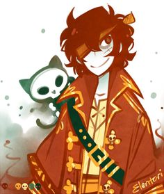 Pirate Nico Di Angelo, palette meme for @twisted-wanderer and some pirate music…