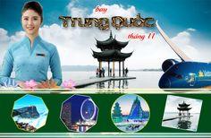 Giá vé máy bay đi Trung Quốc tháng 11 Vietnam Airlines