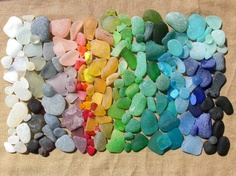 Beautiful treasures from the sea. I would so love to find all these colors!