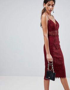 ASOS Lace Cami Midi Pencil Dress