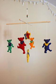 Hippie / Dancing Bears Inspired / Tie Dye  Baby by EmilysSpace, $38.00
