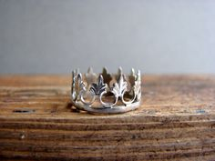 A crown for a Queen Sterling Silver Crown Ring by Nafsika on Etsy, $30.00