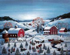 Mary Singleton Painting - The Tree Farm