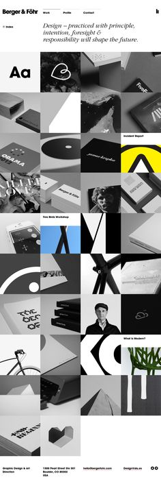 Unique Web Design, Berger & Föhr via @charlx #Web #Design #Grid