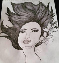 I still need alot of practice but she was fun! #truth #lasvegas #TweepTweep #sagittariuswoman #artlover #fun #artist #pencildrawing #drawing #draw #colors #blackorwhite #imlearning
