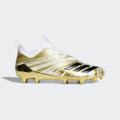 02d499fab03 Adidas Men s Adizero 5-Star 7.0 Low Metallic Gold Football Cleats Shoes -  CQ0345 (eBay Link)