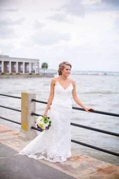 Downtown Charleston SC Bridal Portraits at the Battery // Dana Cubbage Weddings // Charleston SC + Destination Wedding Photographer