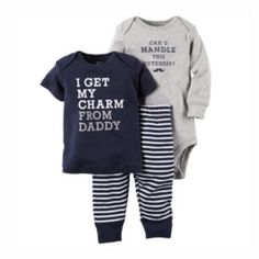 Carter's® 3Pc Charm Bodysuit Set - JCPenney