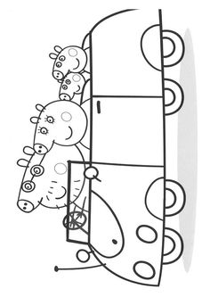 coloring page Peppa Pig on Kids-n-Fun. Coloring pages of Peppa Pig on Kids-n-Fun. More than coloring pages. At Kids-n-Fun you will always find the nicest coloring pages first! Peppa Pig Coloring Pages, Valentine Coloring Pages, Dinosaur Coloring Pages, Cool Coloring Pages, Cartoon Coloring Pages, Coloring Books, Coloring Sheets, Dinosaure Peppa Pig, Printable Halloween