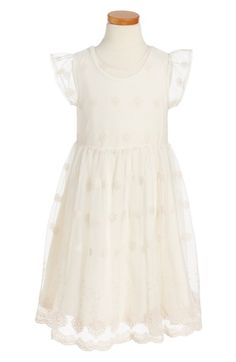 Main Image - Pippa & Julie Embroidered Dress (Toddler Girls, Little Girls & Big Girls)