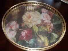 Tray Vanity Tray Floral Vanity Tray Vintage by SuzyQsVintageShop, $27.25