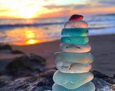 Sunny SoCal Seaglass Stack Print Beach Photo Art Coastal   Etsy Stone Wallpaper, Ocean Wallpaper, Wallpaper Quotes, Ocean Photos, Beach Photos, Metallic Paper, Coastal Wall Art, Ocean Photography, Beach Print
