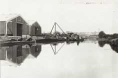 "Caption: ""Scene at Bulls Bridge Depot on the Grand Union Canal"" Old Photos, Vintage Photos, London Pictures, Canal Boat, Narrowboat, Long Distance, Britain, Past, Bridge"