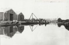 "Caption: ""Scene at Bulls Bridge Depot on the Grand Union Canal"""