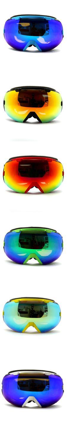 Ski Goggles Men &Women Adult anti-fog Unisex Spherical Double Layer Anti-fog Dual Lens Snowboard Skiing Goggle windproof Eyewear