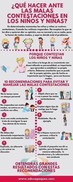 ¿Por qué dan malas contestaciones los niños y niñas?. 10 Consejos para frenar las malas contestaciones en los niños y niñas