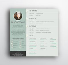 check out this behance project free resume template https