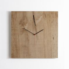 Horloge DIY en planche