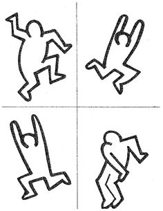 Keith haring workbook pages pinterest keith haring for Keith haring figure templates
