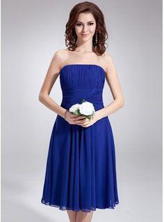 Bridesmaid Dresses - $92.99 - A-Line/Princess Strapless Knee-Length Chiffon Bridesmaid Dress With Ruffle  http://www.dressfirst.com/A-Line-Princess-Strapless-Knee-Length-Chiffon-Bridesmaid-Dress-With-Ruffle-007020862-g20862