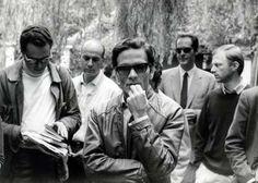 Pier Paolo Passolini at the 1968 Venice Film Festival.