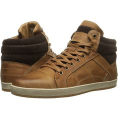 Steve Madden Pavano (Tan) Men's Lace up casual Shoes ($63) ❤ liked