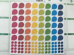 Teardrop Rainbow Set for your Planner by CindysPerfectPaper